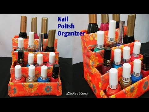 DIY Organizer - Waste Material Craft Ideas - Best Out Of Waste - Nail Polish Holder Diy