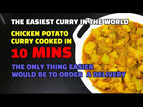 The Easiest Chicken Curry Recipe EVER - The 10 Min Chicken Curry - One Pot Super Fast