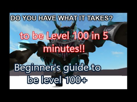 Fight the Monsters! on Roblox how to be level 100 in 5 mins