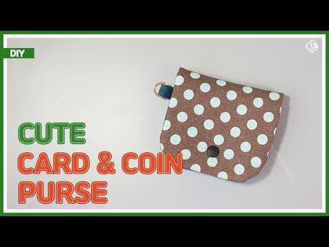 DIY/ CUTE CARD & COIN PURSE/ 귀여운 카드&동전지갑 만들기/ sewing/ tutorial/ [Tendersmile Handmade/ 텐더스마일 핸드메이드]