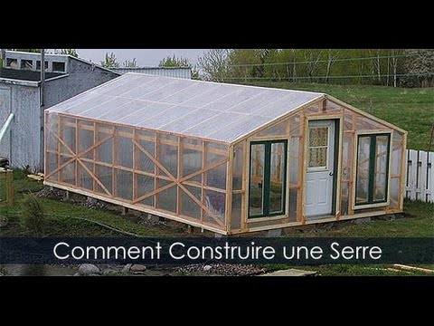 construire une serre de jardin en bois tapes de construction youtube. Black Bedroom Furniture Sets. Home Design Ideas