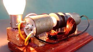 Science Free energy generator Light Bulb 220V generator Motor - New Inventions Technology 2018