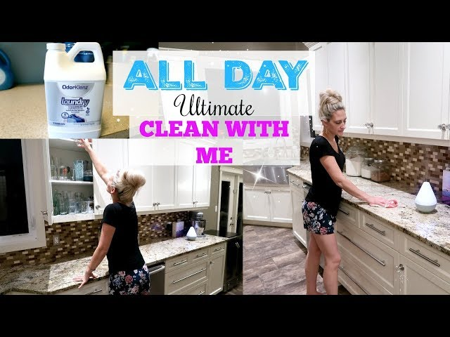 ULTIMATE ALL DAY CLEAN WITH ME 2018 ~ CLEANING MOTIVATION