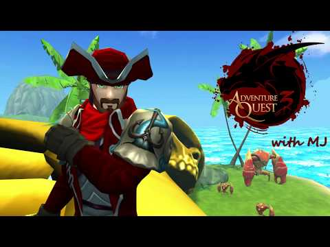 AdventureQuest 3D with MJ & Artix: Pirates and the new Clawg Island