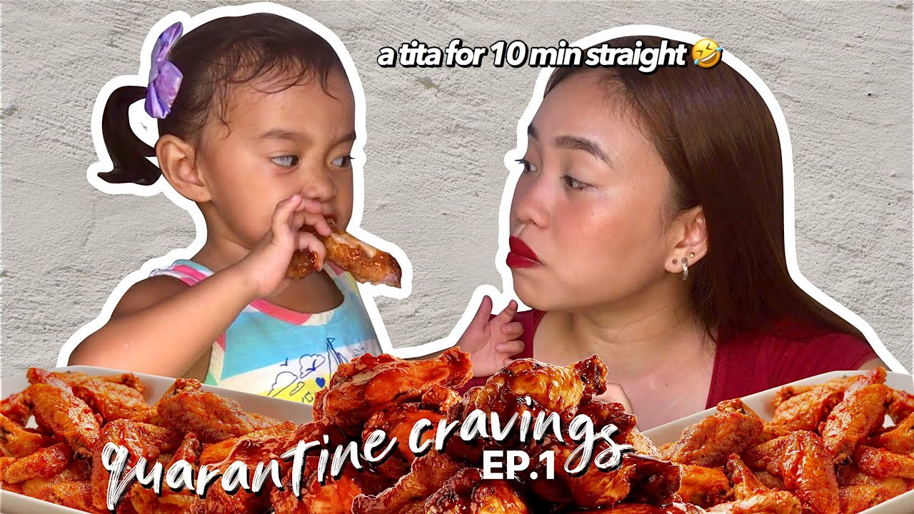 EATING MY QUARANTINE CRAVINGS E01: Chicken Wings!