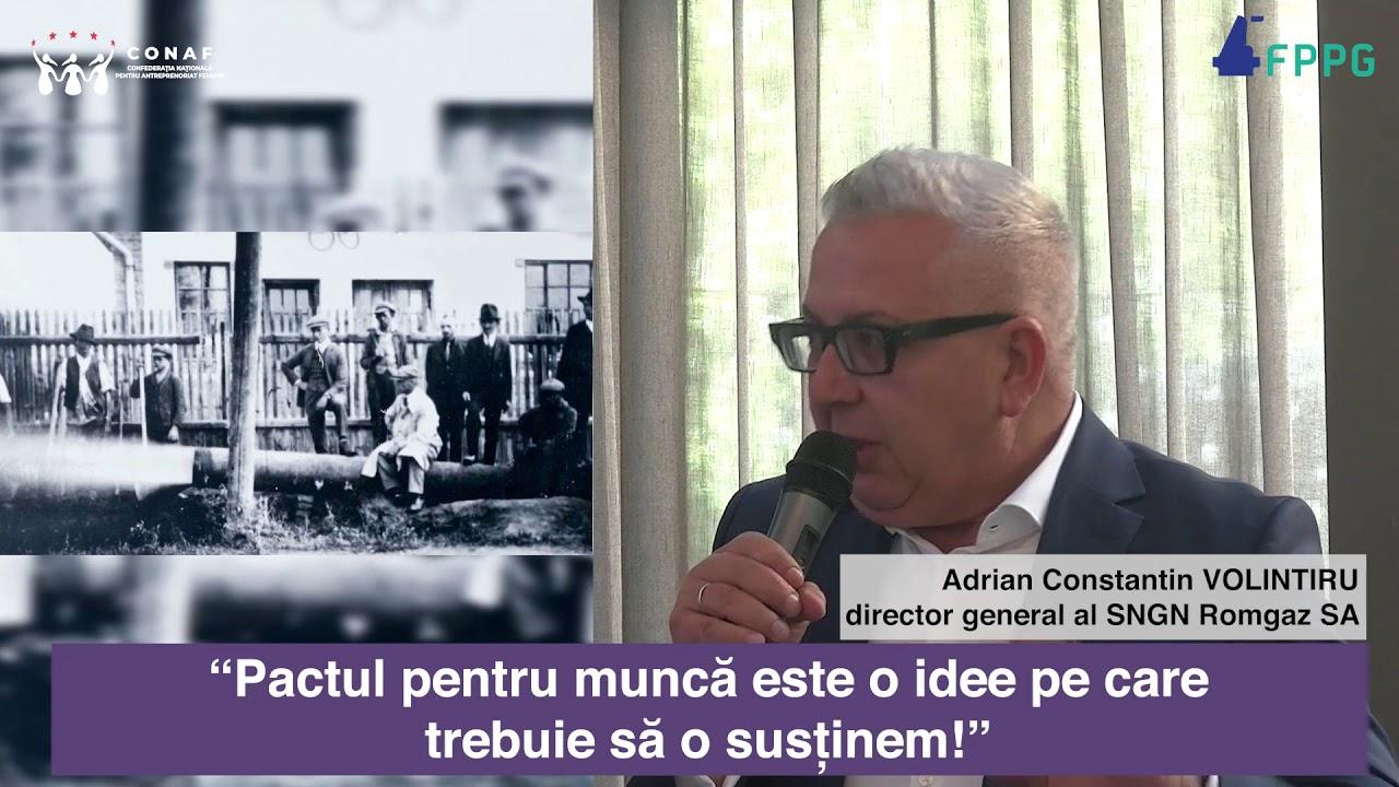 Directorul General, domnul Adrian Volintiru la Conferinţa Pactul pentru Muncă