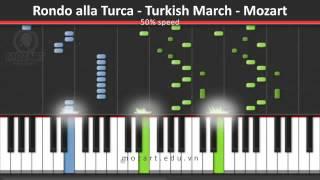 Rondo alla Turka - Turkish March - Mozart - 50% Speed