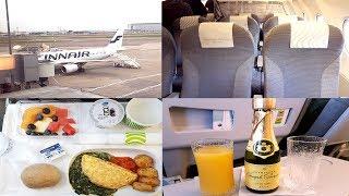 Finnair BUSINESS CLASS London to Helsinki Airbus A320
