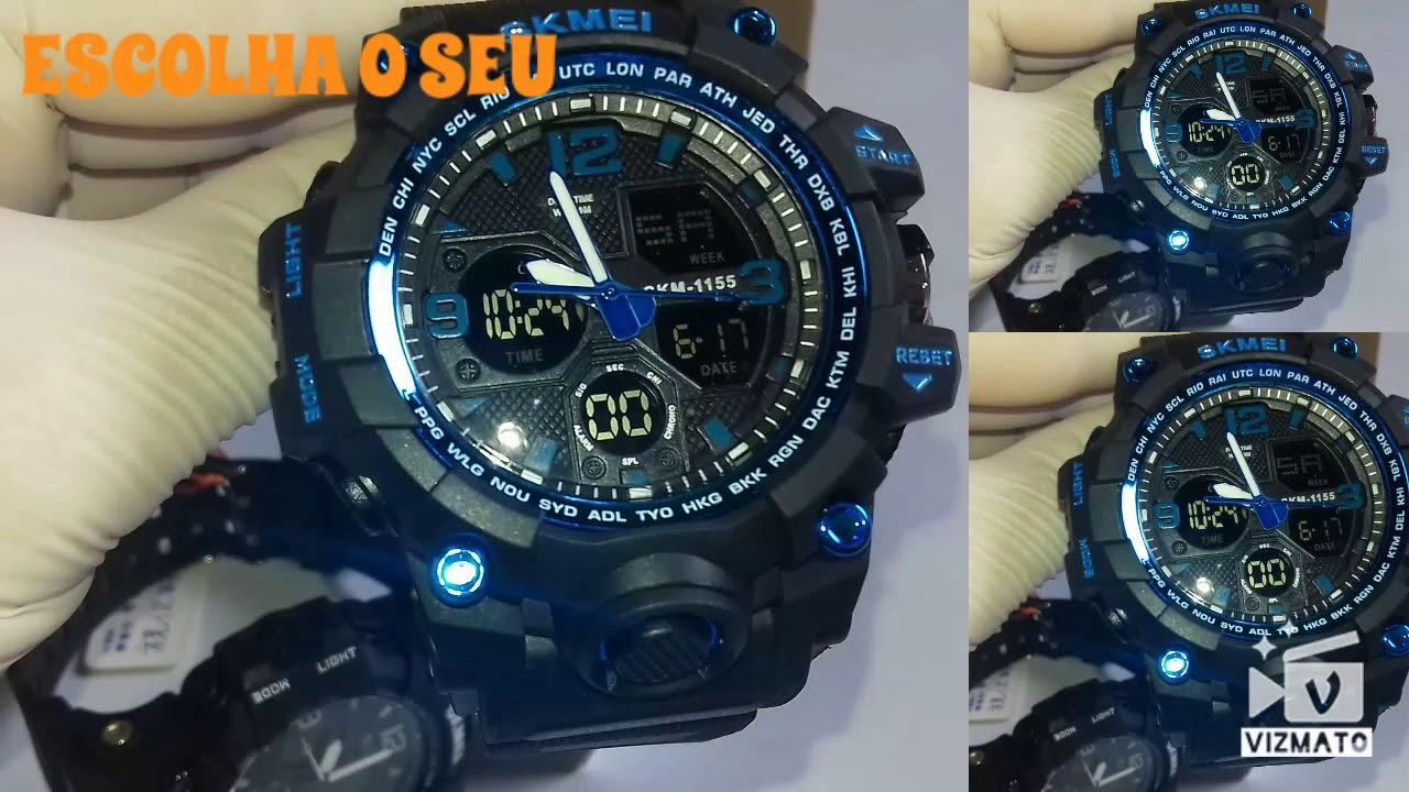 3f13fedadd4 Relógio Masculino Skmei 1155 A Prova D água Original Militar - YouTube