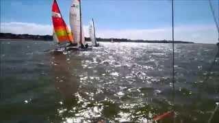 Régate championnat de ligue catamaran du 23 mars 2014