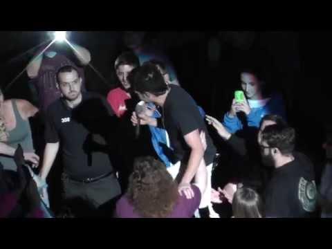 Train 6/19/2015 9: Bruises - Saratoga Springs, NY - Pat walks the crowd