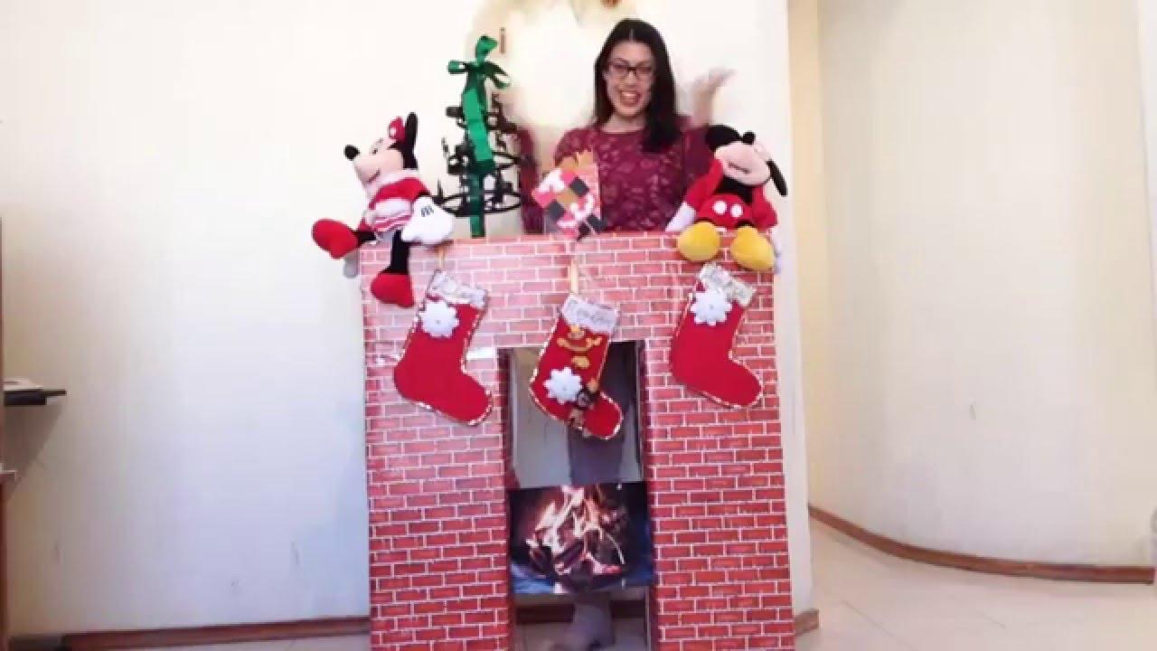 Como hacer una chimenea para navidad de forma f cil youtube - Como se construye una chimenea ...