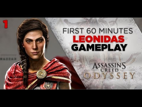 Assassins Creed Odyssey Gameplay Part 1 | Leonidas Fight | First 60 Minutes 1