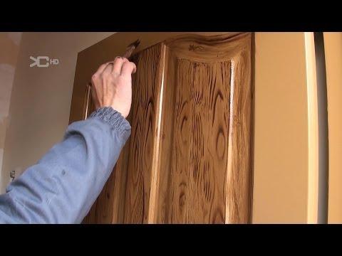 Imitacion a madera en puertas met licas ibowbow for Como hacer una puerta de metal