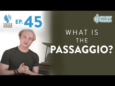 "Ep. 45 ""What Is The Passaggio?""- Voice Lessons To The World"