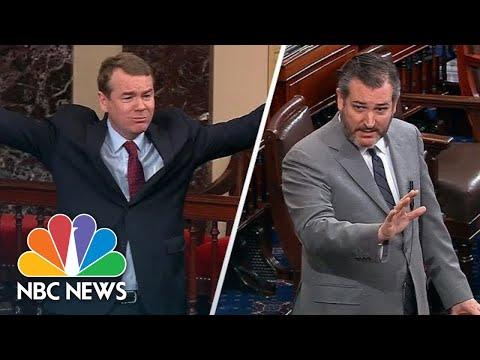 Michael Bennet Slams Ted Cruz's 'Crocodile Tears' In Fiery Speech On Shutdown | NBC News