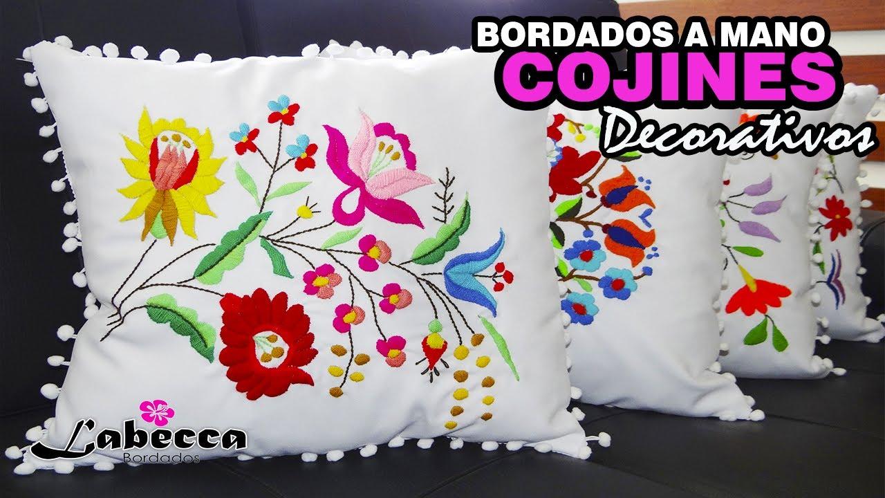 Cojines Bonitos Online.Cojines Decorativos Bordados A Mano Bordado Mexicano Flores Cojines Para Decorar La Sala