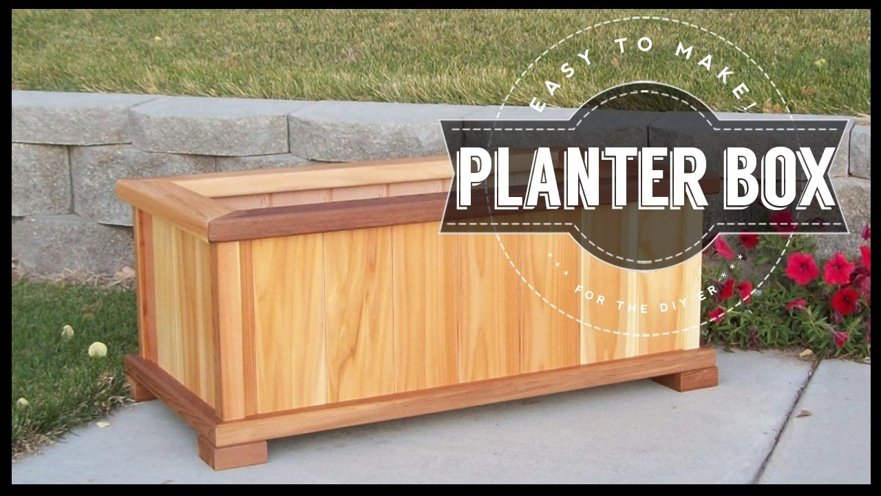 how to build a planter box diy easy to make youtube. Black Bedroom Furniture Sets. Home Design Ideas
