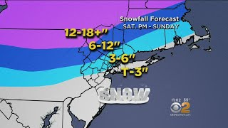 Latest Forecast Projects 3 Inches Of Snow For New York City