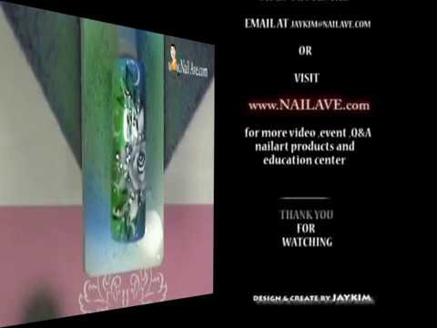 Nail art airbrush fantasy flowers rose youtube prinsesfo Choice Image