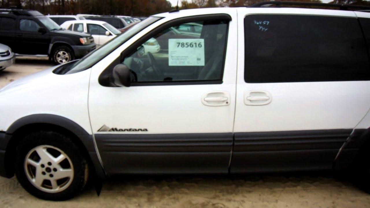 2002 pontiac montana sda 785616