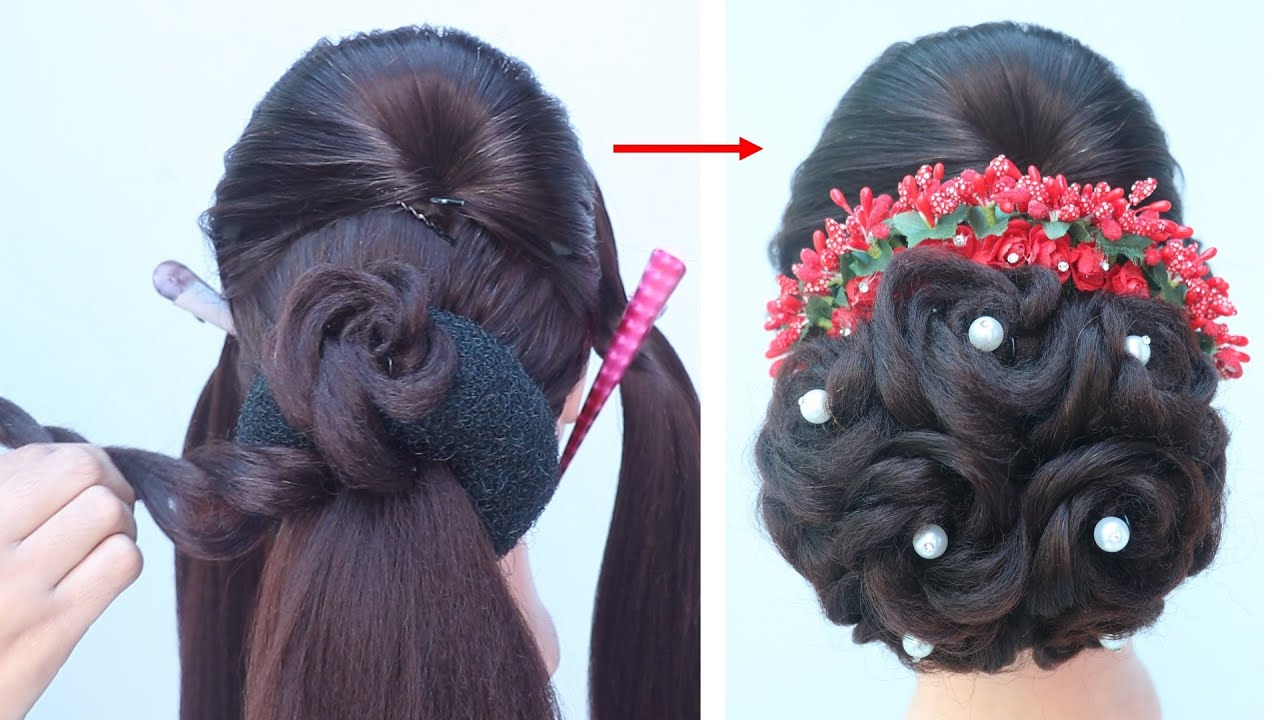 latest juda hairstyle for bridal   new hairstyle   party hairstyles   simple hairstyle   hairstyle