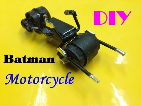 "How To Make A Batman Motorcycle - ""Batcycle Toy"" - DIY - Tutorial"