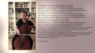 #RestezPrudents avec Patrick Langot et le Festival International  de Violoncelle de Beauvais