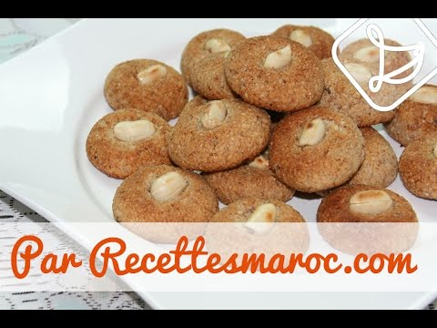biscuits-marocains-aux-cacahuètes-&-amandes---moroccan-peanut-&-almond-cookies---غريبة-بالكاوكاو