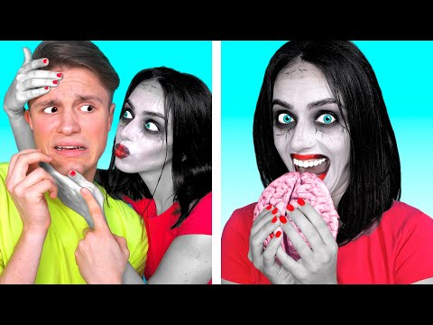 ЗОМБИ ДОМА | Смешные Ситуации и Забавные Пранки с Зомби от Ideas 4 Fun