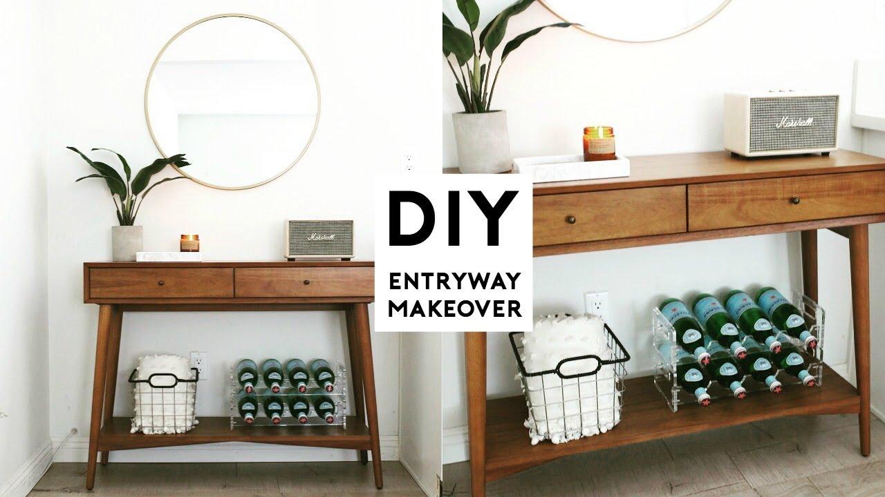 DIY ROOM MAKEOVER | MINIMAL ENTRYWAY ROOM DECOR IDEAS 2018 ... on Make Up Room Ideas  id=86214