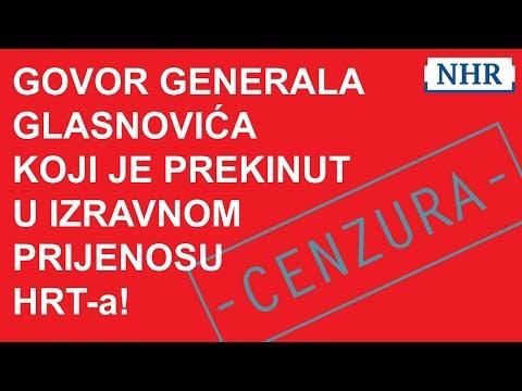 GOVOR ŽELJKA GLASNOVIĆA PREKINUT u izravnom prijenosu HRT-a. 07.02.2019.