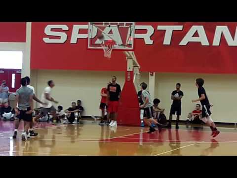 3 on 3 competition at University of Tampa Prospect Camp