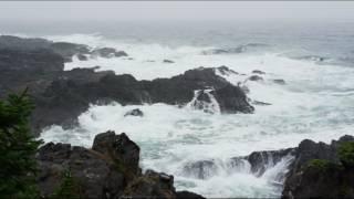 HQ Ocean Waves and Storm  Relaxing Sleep Sound Шторм океана волны прибоя звук для релаксации и сна