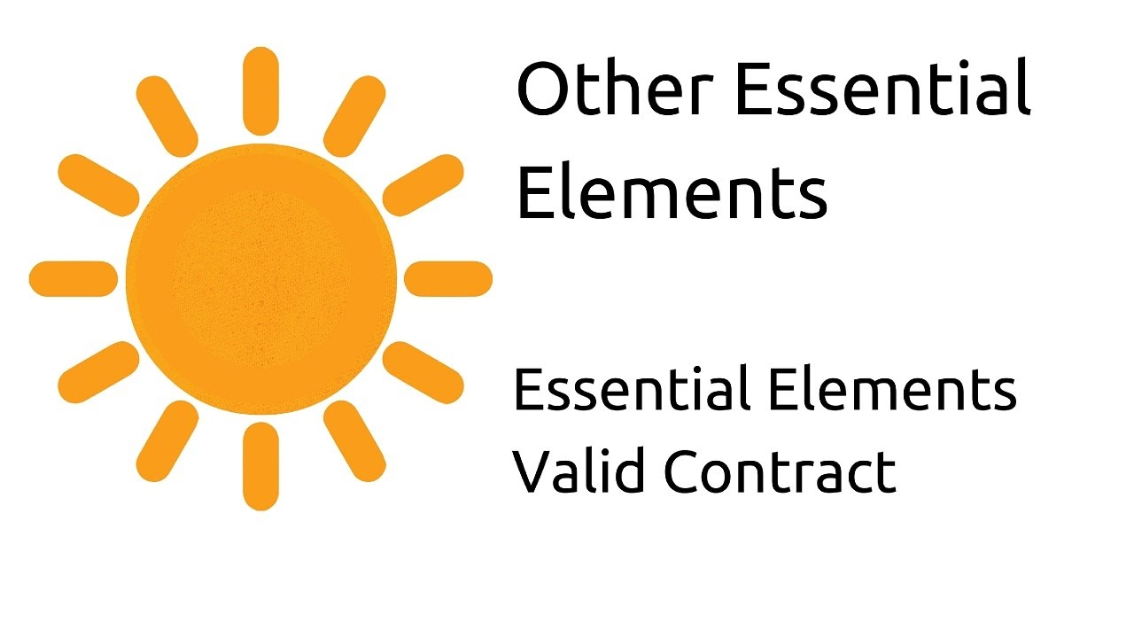 Introduction To Other Essential Elements | Valid Contract | CA CPT | CS U0026  CMA Foundation