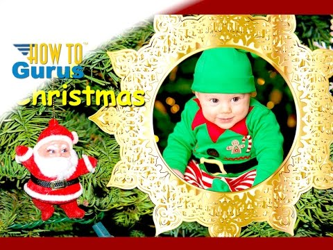 How To Make A Baby S First Christmas Card Photoshop Elements