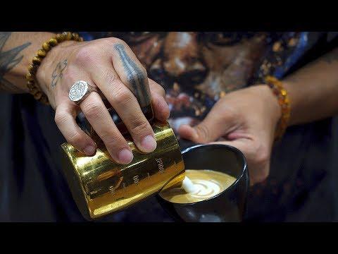 Coffee Fest L.A. Latte Art World Championship Open + Race Service | Real Chris Baca