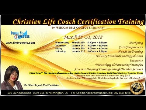 dr marci bryant's christian life coach certification program -