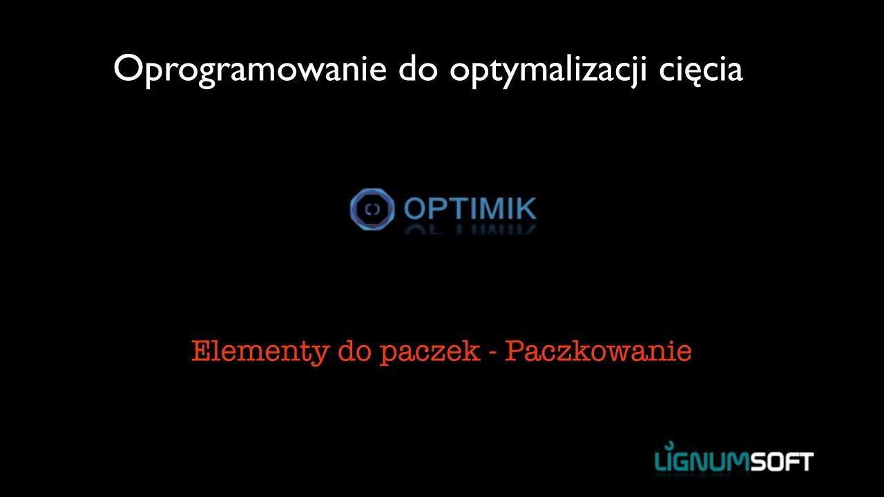 Optimik - Paczkowanie