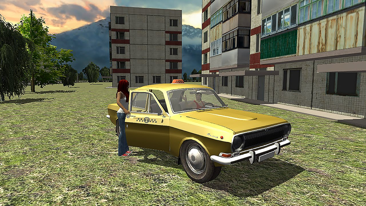 Russian taxi simulator 3d gameplay android youtube for Simulatore 3d