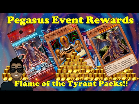 Yu-Gi-Oh Duel Links - Pegasus Event Rewards & 22 Pack Opening of Flame of The Tyrant!