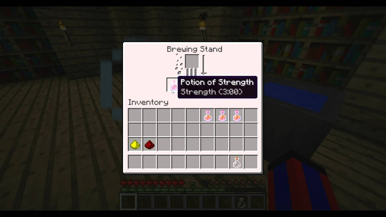 Minecraft Tutorial - How to Make Potion of Strength II [CG ... |Strenght Potion