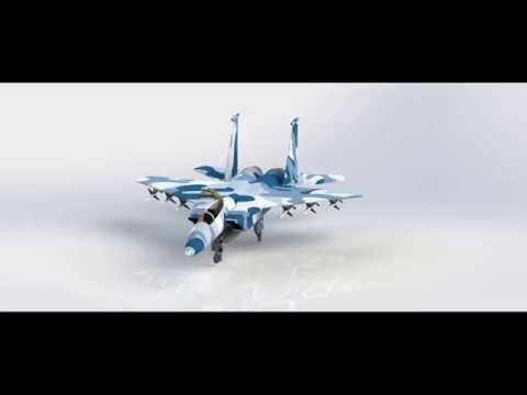 Explosion F-15 EAGLE En Solidworks