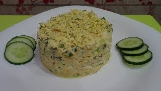 Салат из редьки с яйцом и зеленым луком