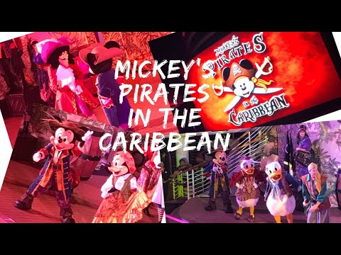 Mickey's Pirates IN the Caribbean deck party - Disney Cruise Line - Disney Dream - October 2017
