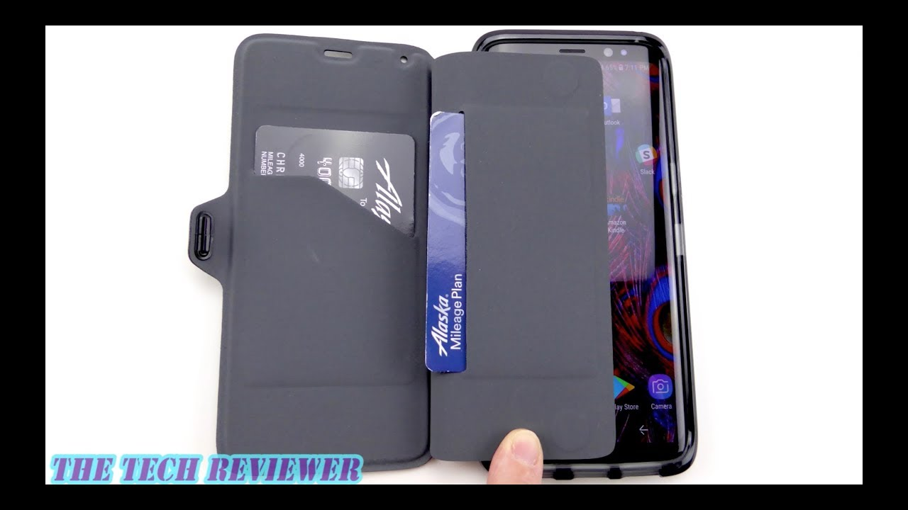 check out bb071 fcf0f Hidden Card Storage, Removable Folio Cover & 10 Ft Drop Protection: Tech21  Evo Wallet for Galaxy S8!