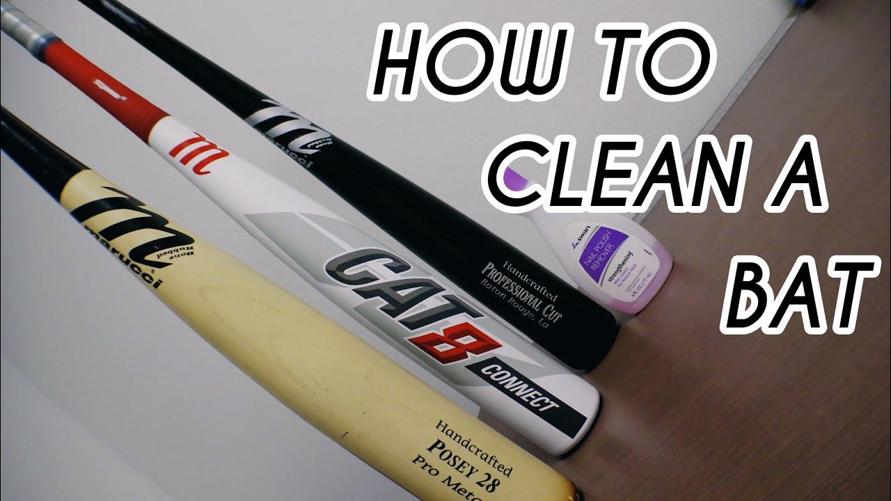 How To Clean A Baseball Bat Youtube