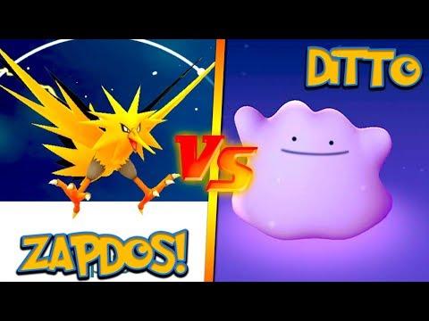 NEW ZAPDOS vs. THE DITTO! POKÉMON GO LEGENDARY RAID CHALLENGE!
