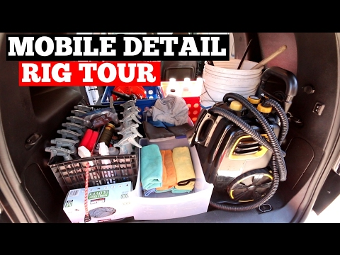 Car Detail Shop >> Mobile Auto Detailing Setup How To Organize Your Van Or Shop For