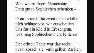 Wilhelm Busch - Die erste alte Tante sprach